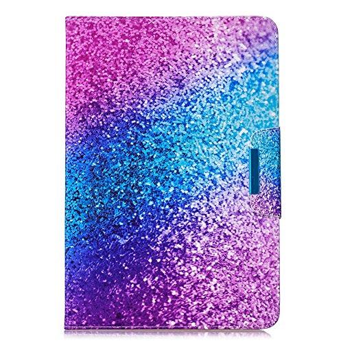Coopay - Funda de piel sintética con tapa para tablet táctil de 10', diseño original, con tapa magnética, color rosa y azul