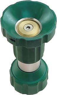 H2O WORKS Heavy Duty Fireman Style Garden Hose Nozzle, Solid Brass Metal Twist Nozzle, Sprayer That's Built to Last, Adjus...