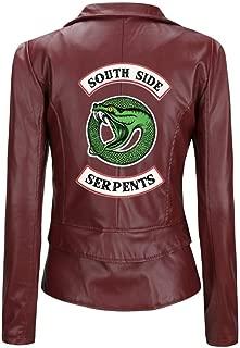 Southside Serpents Short Jacket Vest with Faux Leather, Unisex Casual Punk Coat
