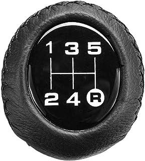 Universal 5-växlad växelspaksknoppspak Växelpaket PU läder för Honda/VW/Toyota/BMW/Audi/Mazda