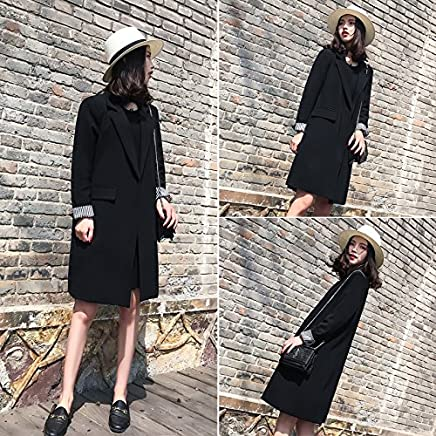 Xuanytp Black Small Suit Lace Dress Dress Long Skirt Thin Section Casual Jacket Loose Thin Coat