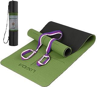 Lixada Yogamatta gymnastikmatta SGS-certifierad TPE Pilates träningsmaterial strukturerad halkfri yta och optimal dämpning...