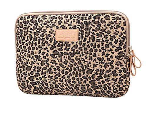 "Leopard Laptophülle Laptoptasche Notebooktasche Hülle Schutzhülle Sleeve Tasche Computer Tablet für Laptop/Notebook 10"" Leopard Braun"