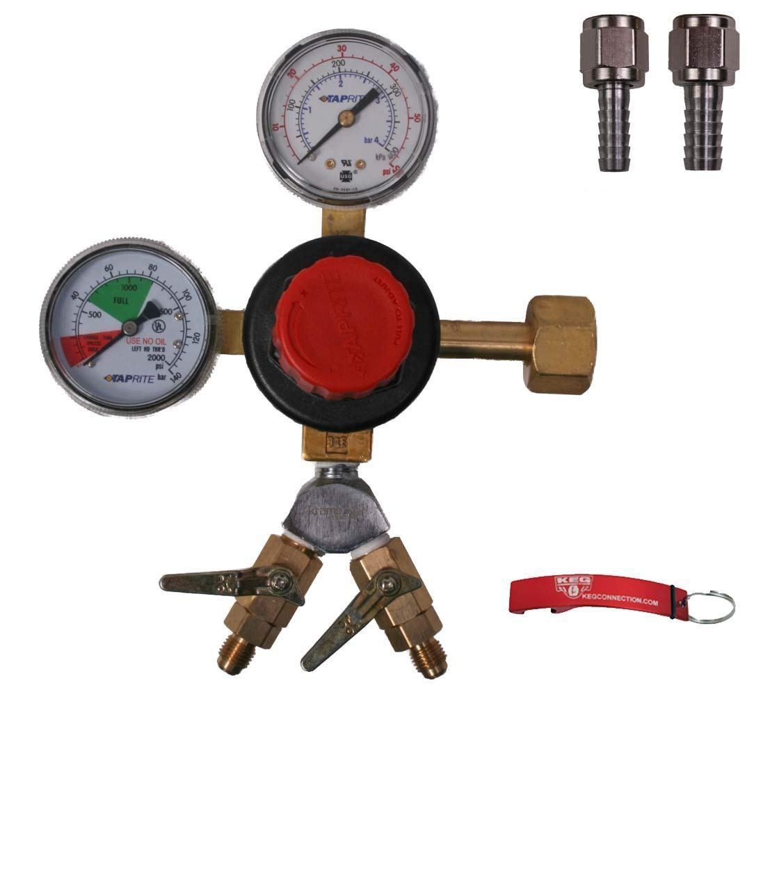 Beer Regulator security Taprite Seattle Mall WYE'd Dual Valves Check