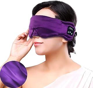 AUSELECT Wireless Sleeping Eye Mask Headphones Bluetooth Silky Sleep Eye Mask Wireless Headset for Travel & Sleeping Adjus...