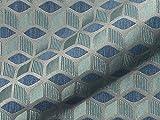 Möbelstoff Dustin FR Muster Abstrakt Farbe blau als