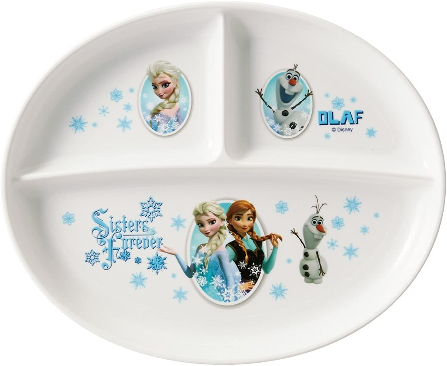 Lunch plate Ana and the Snow Queen Frozen Disney Washable in Dishwasher