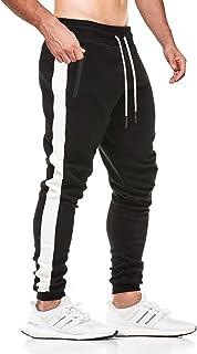 JustSun Men's Jogging Bottoms Striped Design with Zip Pockets