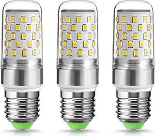 3 bombillas LED de 9 W., Blanco cálido., E27, b22