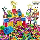 ULTREY 500 Stücke Kind Kunststoff Rod Bausteine Kinder Pädagogisches Puzzle Spielzeug Gebäude -