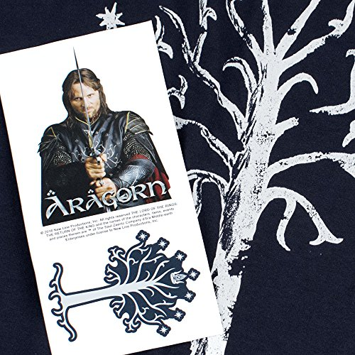 Lord of The Rings Tree of Gondor T Shirt and Stickers (Medium) Navy