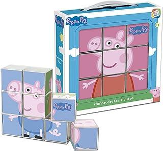 Cefa Toys Peppa Pig Rompecabezas, 9 Cubos, Multicolor, Miscelanea (88233)
