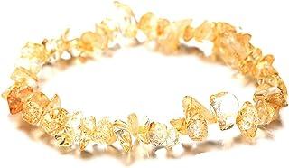 YYZLL Bracelet en Cristal Naturel Perles de Pierres précieuses de Forme irrégulière pièces écrasées Bracelet en Pierre Bij...