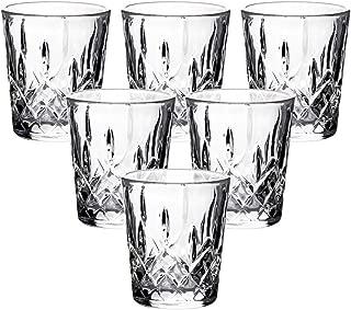 Enindel 1.7 Ounces Pack of 6 Carved Patterns Shot Glasses Set (JY001)