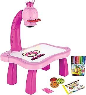 MTDBAOD Kinderen? s Tekenprojectortafel, lijn tekening en tekenprojector speelgoed met slimme projector, projectietekenbor...