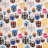 Star Wars Fabric Colorfuls, Cotton Fabric Sold by The 1/4 Yard or Fat Quarter 18'x21'