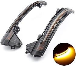 Un par Luz de señal de giro LED dinámica Indicador de espejo para A6 C7 2012-2018 Caja Negra Ahumada