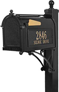 Whitehall Products Deluxe Mailbox Package - Black