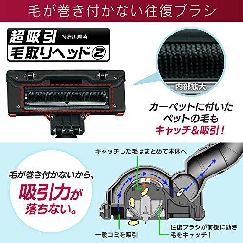 アイリスオーヤマサイクロン掃除機3WAYレッドIC-S55KF-R