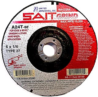 10-Pack United Abrasives SAIT 22140 Type 27 5-Inch x 1//8-Inch x 5//8-11 Pipeline Long Life Specialty Grinding Wheels