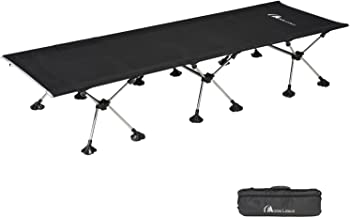 MOON LENCE Camping Cot for Adults Folding Cot Bed Height Adjustable Portable Cot for Outdoor Camping Backpacking