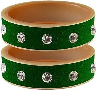 Vidhya Kangan Bangle Set for Women (L Green) (bans13608-2.8)
