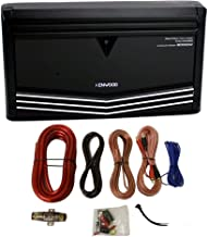 Kenwood KAC-9106D 2000W Monoblock Class D Car Audio Power Amplifier + Amp Kit (Renewed)