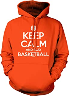 Tcombo Keep Calm and Play Basketball - Sports Unisex Hoodie Sweatshirt