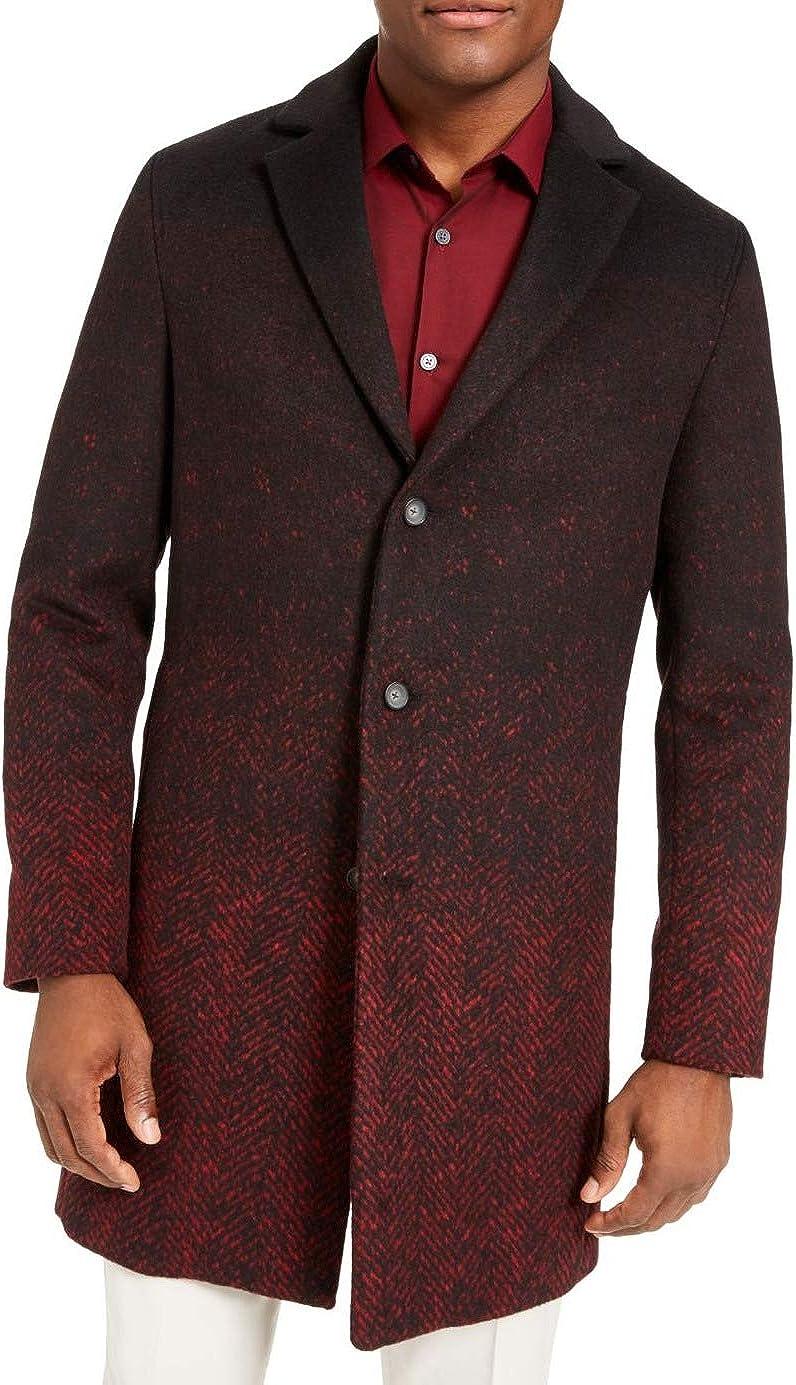 Alfani Mens Wool Blend Ombre Jacket