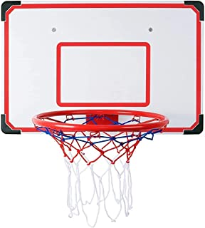 Basketball Wall-Mount Boards,Wall-Mounted Basketball Stand,Indoor and Outdoor Big Basketball Hoop Set,27X18 Inches Shatter...