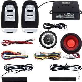 EASYGUARD EC003 Smart Key PKE Passive Keyless Entry Car Alarm System push start button Remote Engine Start Universal Version DC12V