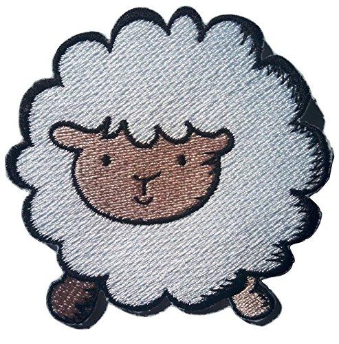 b2see Schaf Aufnäher Patches für Jeans Bügelbild Aufbügler Applikation Iron on Patches Sticker Schaf