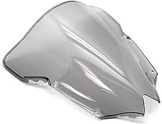 Tengchang motocicletta Doppia protezione dello schermo del parabrezza bolla parabrezza per YAMAHA YZF R6 1998 1999 2000 2001 2002 Cromo