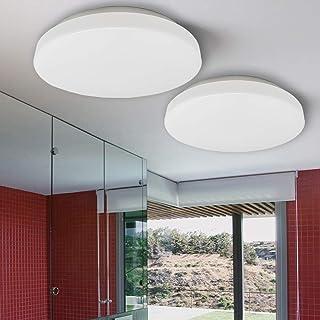 FactorLED Packx2 Lámpara Techo 18w, Plafón Led Superficie Circular Blanco, iluminación interior, Luz Blanca Seleccionable 3000K-4000K-6000K, Ø31cm, Osram chip (CCT)