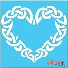 Standard Brilliant Blue Color Material Stencil - The Viking Heart - Norse & Celtic Knot Symbol Template-XS (8