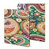 Coque pour iPad 2020 Air 4 (11'), motif floral abstrait (2) avec porte-crayon pour iPad 2020 Air 4...