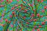 Radanya Stoff aus reiner Seide bedruckt mit Blumen und