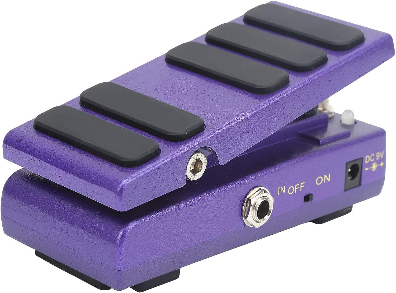 Pedal Wah-Wah Pedal de efectos de volumen 2 en 1 Pedal WAH multimodo y Pedal de volumen Partes de guitarra Accesorios para instrumentos musicales(púrpura)