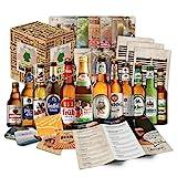 12 Cervezas alemanas en caja de regalo para él, padre, abuelo, amigo, novio, Día del Padre, cumpleaños, Navidad, Pascua, aniversario