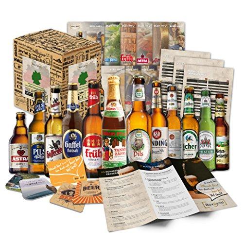 12 Birre tedesche'Birre dalla Germania' | confezione regalo per lui papà nonno amico compagno partner marito | regalo per festa del papà compleanno onomastico Natale Pasqua anniversario
