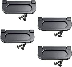 LICTOP 3 inch Flush Pull Ring Handles Hidden Recessed Furniture Grip, Drawers Cabinet Flush Ring Sliding Door Pull Handle Metal Black with Screws (4 Pcs)