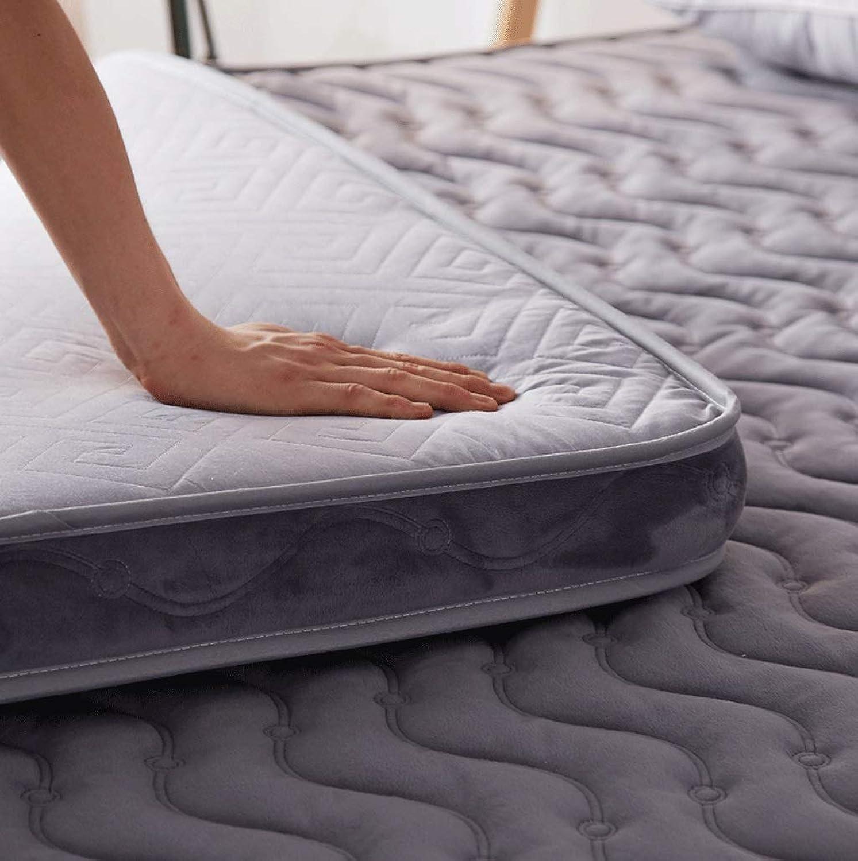 Foldable Sponge Mattress, 10cm Thick Floor Tile, Cotton Permeable Tatami Cushion, Universal Season (color   B, Size   100x200cm)