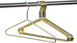 Quality Junior/Petite Gold Modern Heavy Duty Metal Hangers – Clothing Thin Compact 14