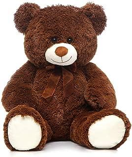 Toys Studio 36 inch Big Teddy Bear Cute Giant Stuffed Animals Soft Plush Bear for Girlfriend Kids, Dark Brown