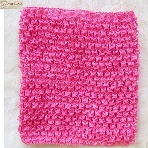 KADIWOW 6 Inch Baby Girl Crochet Tutu Tube Tops Chest Wrap Wide Headbands (20pcs)