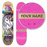 Product Image of the SkateXS Personalized Beginner Unicorn Girls Skateboard