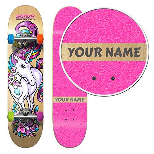 Sale!! SkateXS Personalized Beginner Unicorn Girls Skateboard