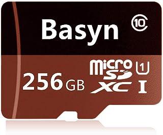 Basyn microSDカード microSDXCカード 256 GBマイクロSD SDXCメモリーカード 超高速Class10 + SDカードアダプ(JB99-SR) (256GB)