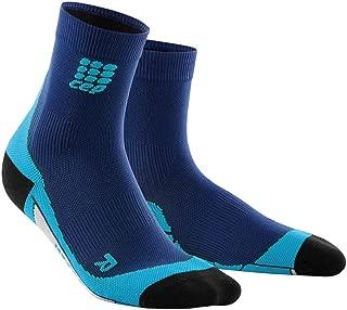Men's Athletic Crew Cut Compression Socks - CEP Short Socks for Performance