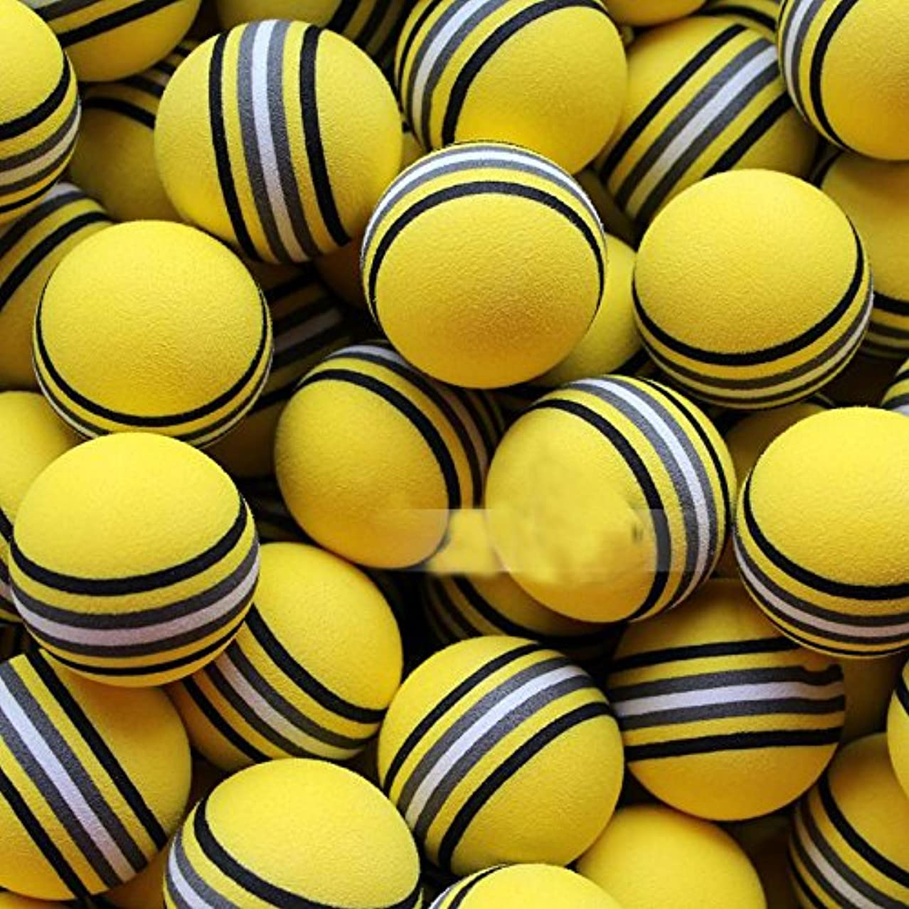 ポットクマノミ溶岩xinzhi 50ピースレインボースポンジゴルフボール、ゴルフトレーニングソフトボール屋内練習ゴルフボール気流中空黄色ゴルフボール練習、トレーニング、スポーツ